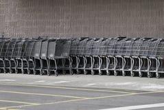 Chariots d'épicerie Photographie stock libre de droits