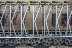 Chariots de bagage Photo libre de droits