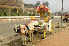 Chariots de cheval près de Lampang Thaïlande Soutch l'Asie de l'Est Cheval dedans Images stock