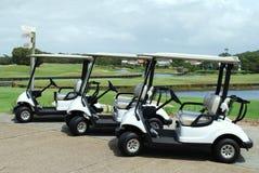 Chariots de golf Photographie stock libre de droits