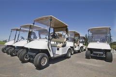 Chariots de golf Photos stock