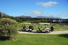 Chariots de golf Images stock