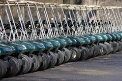 Chariots de golf Images stock