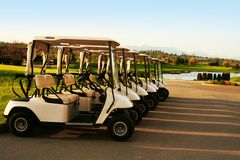 Chariots de golf Photos stock