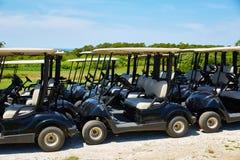 Chariots de golf de Cape Cod Truro le Massachusetts USA Photographie stock libre de droits