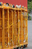 Chariots de stockage de Rewe Photos libres de droits