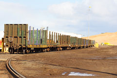 Chariots de train photo libre de droits