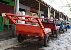 Chariots de transport Photographie stock