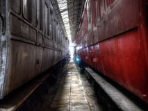Chariots ferroviaires Images libres de droits