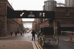 Chariots at Guinness Storehouse, the brewery experience telling the tale of Ireland`s famous beer on St James`s Gate. April 12th, 2018, Dublin, Ireland Stock Image