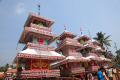 Chariots im Tempelfestival Stockfoto
