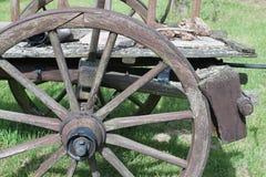 Chariots jetés de cheval ou de boeuf Photo libre de droits