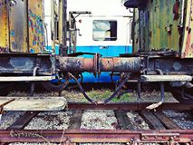 Chariots rouillés Photographie stock