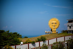 Chariots of sun. Monument of sun in chariots under blue sky , in murudeshwar, Karnataka India Royalty Free Stock Images