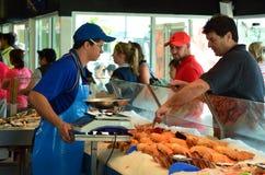 Charis海鲜商店在英属黄金海岸澳大利亚 免版税库存图片