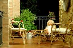 Charis en pop op balkon 3 Royalty-vrije Stock Foto