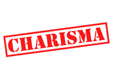 CHARISMA. Red Rubber Stamp over a white background Stock Photo