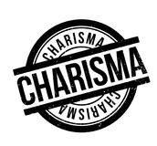 Charisma rubber stamp. Grunge design with dust scratches. Effects can be easily removed for a clean, crisp look. Color is easily changed Royalty Free Stock Image