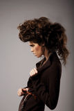 Charisma. Stylish Woman with Unusual Shaggy Hairstyle Stock Image