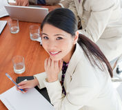 Charismatic Asian businesswoman in a meeting Royalty Free Stock Images