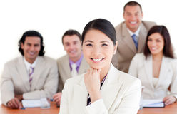 Charismatic Asian businesswoman in a meeting Royalty Free Stock Image