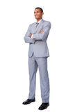 Charismatic Attractive businessman stock photography