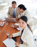 Charismatic business people in a meeting royalty free stock photography