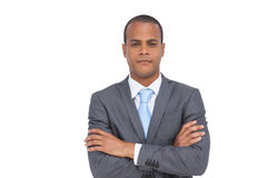 Charismatic businessman with arms crossed Royalty Free Stock Photos