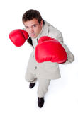 Charismatic businessman beating the competition Royalty Free Stock Images