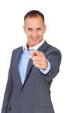 Charismatic businessman pointing at the camera Royalty Free Stock Photography