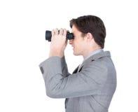 Charismatic businessman predicting future sales Stock Image