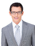 Charismatic businessman wearing glasses. Against a white background Royalty Free Stock Photography