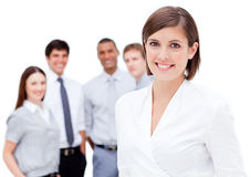 Charismatic businesspeople smiling at the camera Royalty Free Stock Images