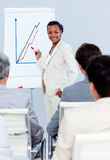 Charismatic businesswoman doing a presentation Stock Photo