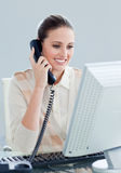 Charismatic businesswoman talking on phone Royalty Free Stock Photo
