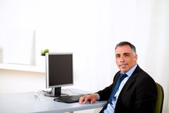 Charismatic executive working at the office Royalty Free Stock Images