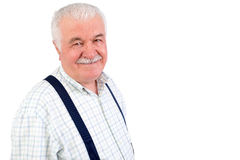 Charismatic friendly senior man Royalty Free Stock Image