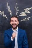 Charismatic handsome catch a bright idea Stock Photo