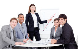 Charismatic manager giving a presentation Royalty Free Stock Photos