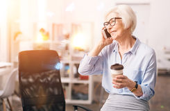 Charismatic respected businesswoman chatting on the phone Stock Images