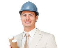 Charismatic young male architect Royalty Free Stock Photos