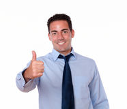 Charismatic young man with positive gesture Royalty Free Stock Photo