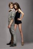 Charismatische Vrouw en Knappe Man samen Royalty-vrije Stock Foto's