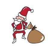Charistmas Santa and bag Royalty Free Stock Images