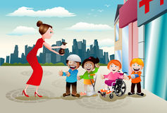 Charité pour la santé enfantile illustration libre de droits