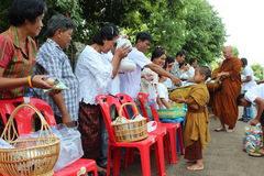 Charity activities in buddhism Royalty Free Stock Images