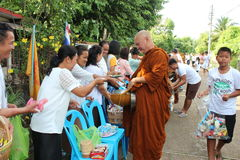 Charity activities in buddhism Royalty Free Stock Image