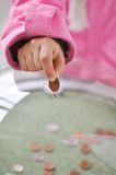 Charity activities, coins Stock Photography