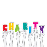 Charity banner concept design Royalty Free Stock Photo