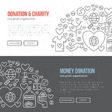 Charity Banner Royalty Free Stock Photography